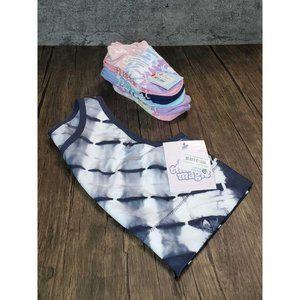 Girls Tie Dye Undergarments Lot Sports Bra & Socks